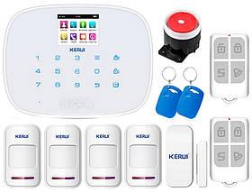 Комплект сигнализации Kerui G19 для 3-комнатной квартиры, белая, Гарантия 12 месяцев