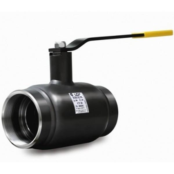 Кран шаровый стальной муфтовый полнопроходной КШЦМ Ру40 Ду65