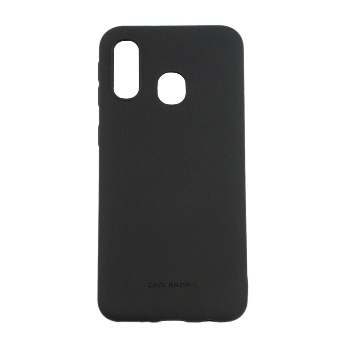 Оригинальный силиконовый чехол Molan Cano Jelly Case для Samsung Galaxy A40 (SM-A405) (черный)