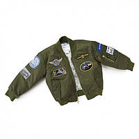 Дитяча льотна куртка Boeing Green Nylon Flight Jacket 330030070029 (Green)
