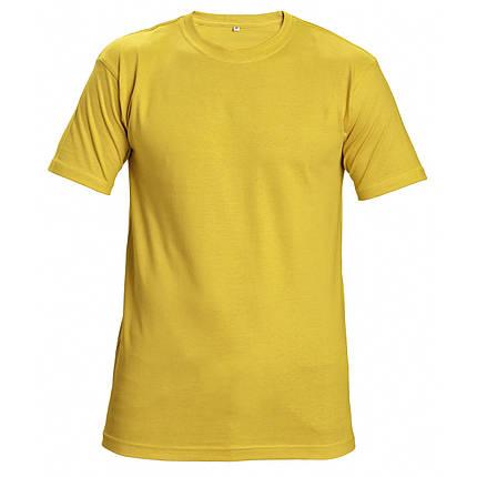 Футболка хлопок Červa унисекс TEESTA бесшовная 160 желтая, фото 2