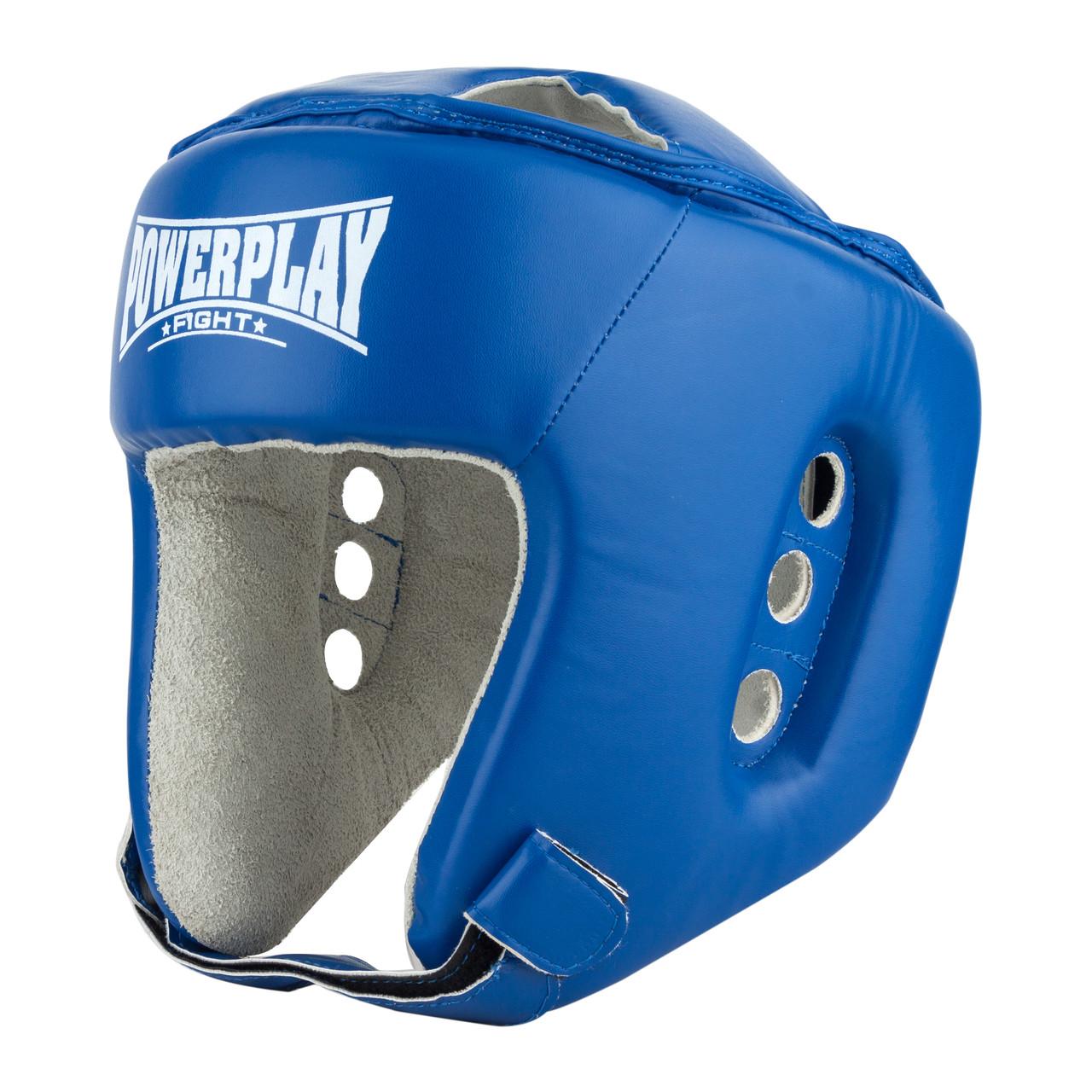 Боксерский шлем тренировочный PowerPlay 3084 cиний M