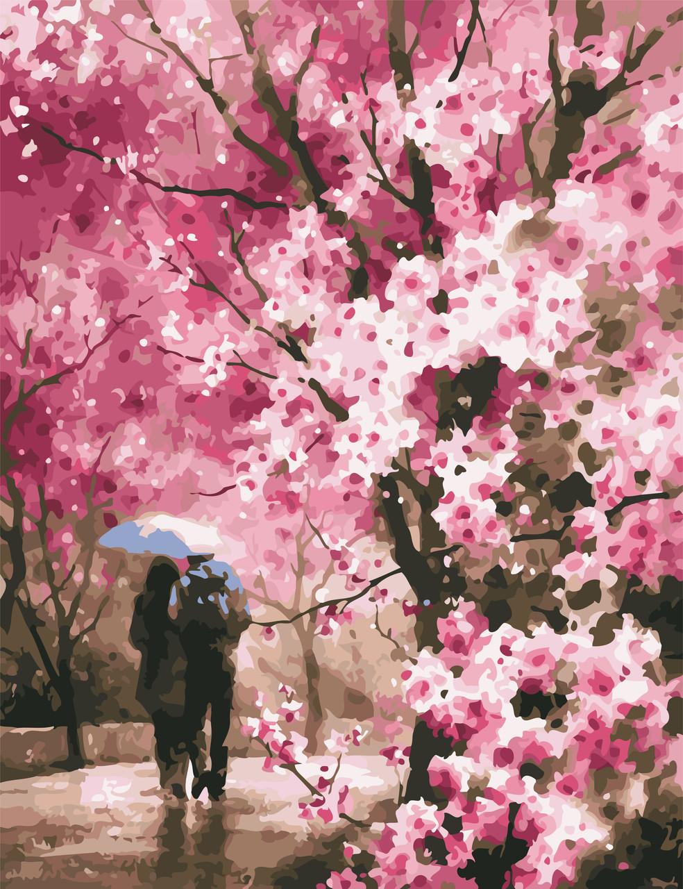 Живопись по номерам Весенний дождь ArtStory AS0618 50 х 65 см