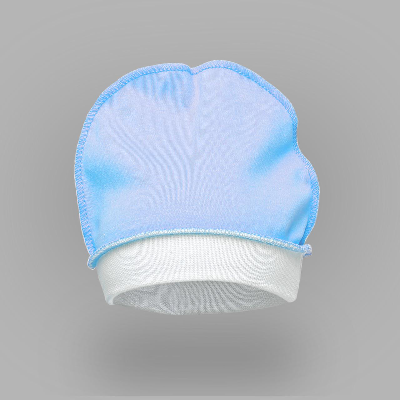 Шапочка для новорожденных. Цвет голубой.