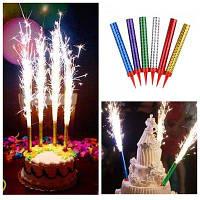 Свечи в торт фейерверк 20 см (6 шт/уп)