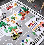 """Бесплатная доставка! Ковер в детскую  """"Машинки на дороге""""  утепленный коврик (1.45*1.95 м), фото 5"""