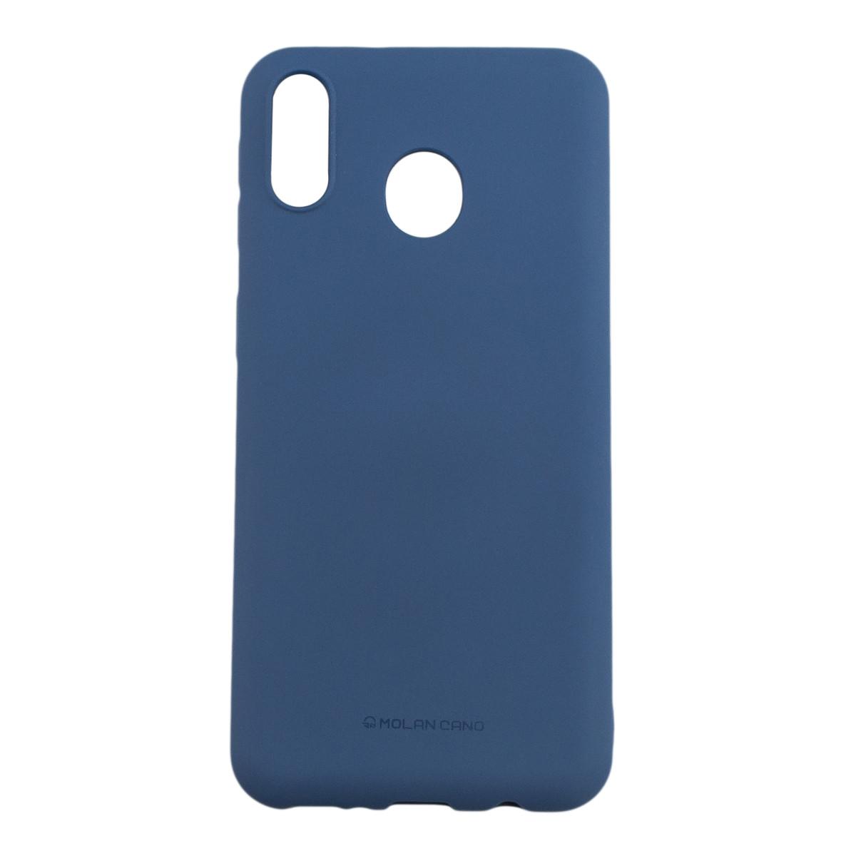Оригинальный силиконовый чехол Molan Cano Jelly Case для Samsung Galaxy M20 (SM-M205) (синий)