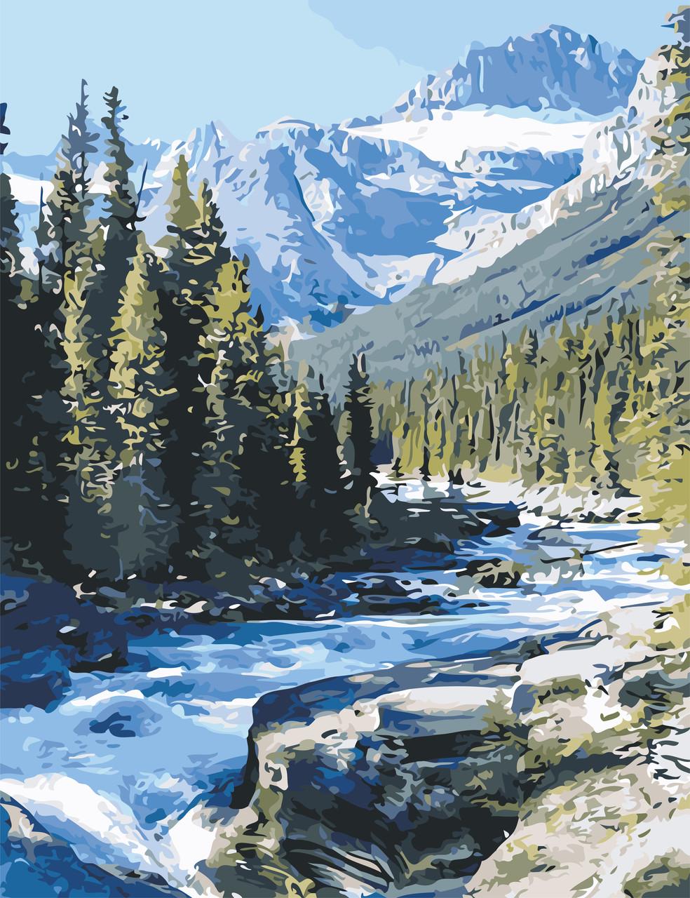 Рисование по номерам Горная река ArtStory AS0628 50 х 65 см