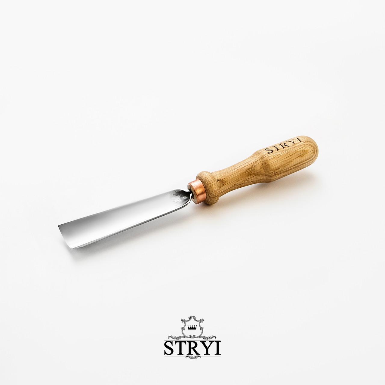 Стамеска отлогая 30мм №7 для резьбы по дереву от производителя STRYI