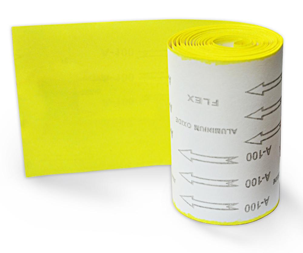 Бумага наждачная Spitce бумажная основа Р100 115 мм х 5 м (18-583)