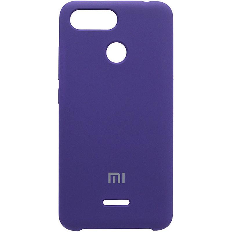 Чехол Silicone case для Xiaomi Redmi 6 Темный фиолетовый / Ultra Violet