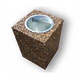 Урна для мусора бетонная Куб (28л), фото 2