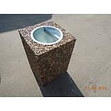 Урна для мусора бетонная Куб (28л), фото 4