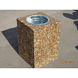 Урна для мусора бетонная Куб (28л), фото 5