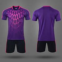 Футбольная форма M8612-V (PL, р-р M-3XL, рост 165-185, фиолетовый, шорты черные), фото 1