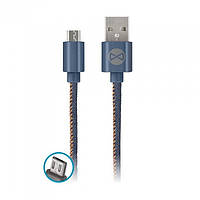Forever micro USB cable jeans