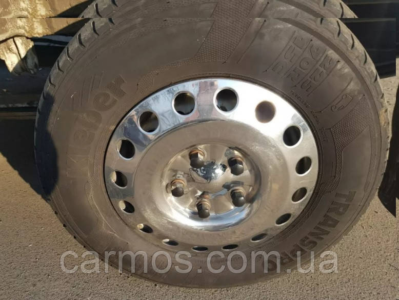 Колпаки на диски Volkswagen LT 95-06 ( Спринтер/ ЛТ, 1 катковый). нержавейка. Турция