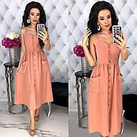 Женское платье из легкой, летней, слегка жатой ткани, фото 1