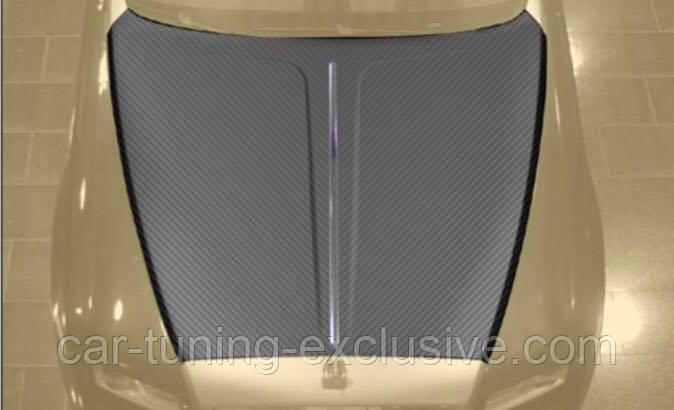 MANSORY engine bonnet with bar exposed for Rolls-Roys Wraith