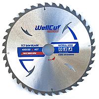 Диск пильный по дереву для циркулярной и торцовочной пилы 400х50 WellCut Standard 40Т