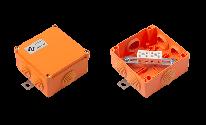 Огнестойкая коробка Е90 FLAMEBOX 100P пластиковая размер 105x105x56 мм.