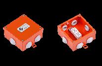 Огнестойкая коробка Е90 FLAMEBOX 100 металлические размер 100x100x50 мм.