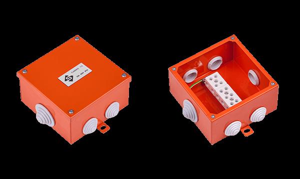 Огнестойкая коробка E90 FLAMEBOX 115 металлические размер 115x115x60 мм.