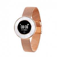 Женские смарт часы Microwear X6 с пульсометром и счетчиком калорий Gold