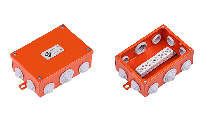 Огнестойкая коробка Е90 FLAMEBOX 140 металлическая,размер140x100x50 мм.