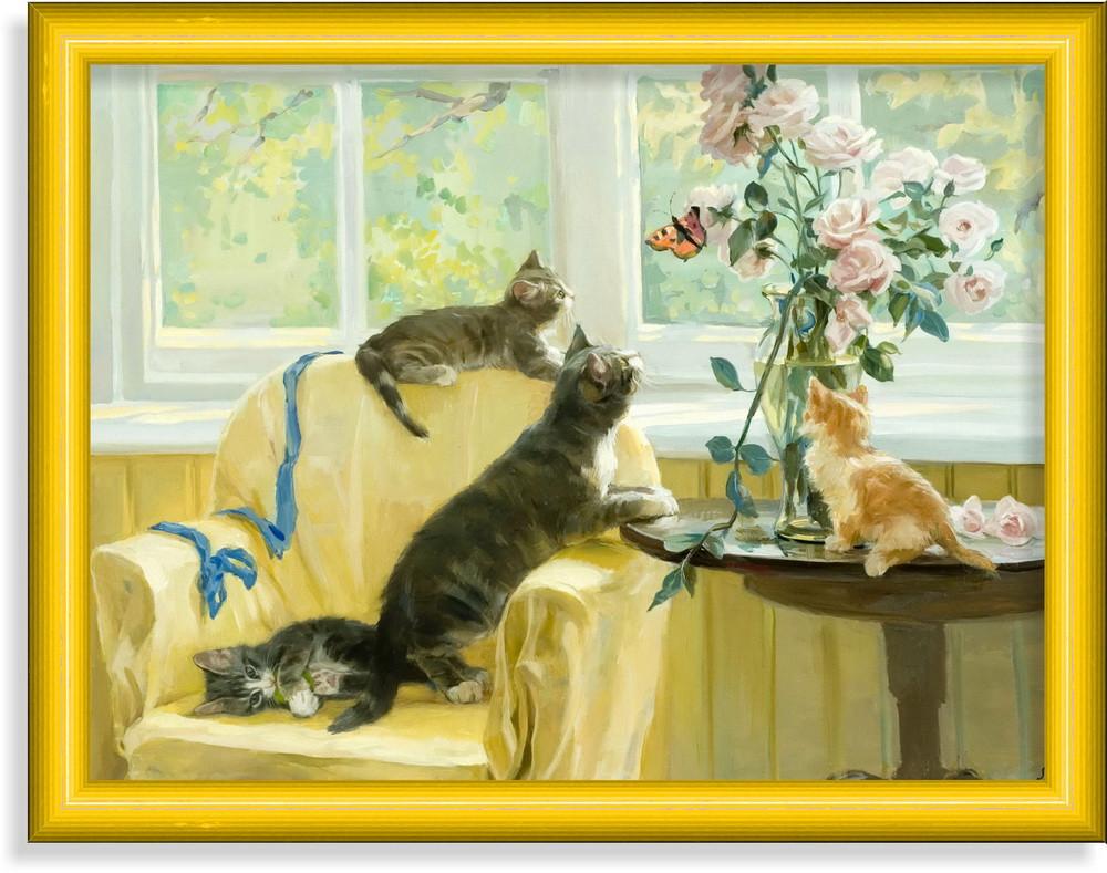 Репродукция  современной картины  «Достань ты!»  28 x 35 cm
