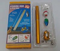 Портативна кишенькова телескопічна міні спінінг вудка-ручка, фото 1