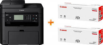 МФУ А4 ч/б Canon i-SENSYS MF237w c Wi-Fi (1418C162AA) + 2 картриджа Canon 737