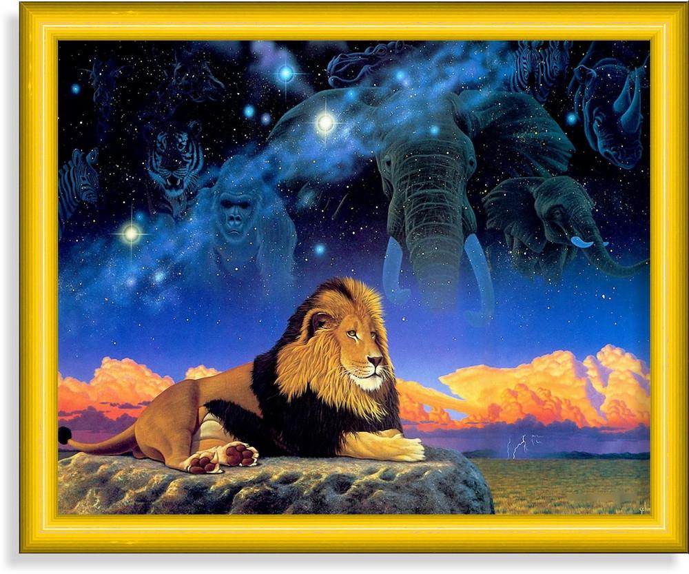 Репродукция  современной картины  «Лев-царь зверей»