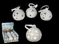 Новогодняя игрушка шар с звездами