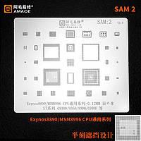 Amaoe BGA трафарет SAM:2  0.12mm для Samsung S7/Exynos8890/MSM8996