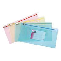 Папка-конверт zip-lock, ассорти, AXENT, 1409-00-A