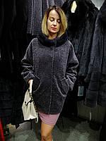 Куртка из натурального меха астраган и норки, полушубок меховой с норочкой
