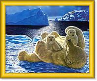 Репродукция  современной картины  «Белые медведи»