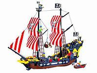 """Конструктор Brick 308 """"Пиратский корабль с пиратами"""" 870 деталей"""