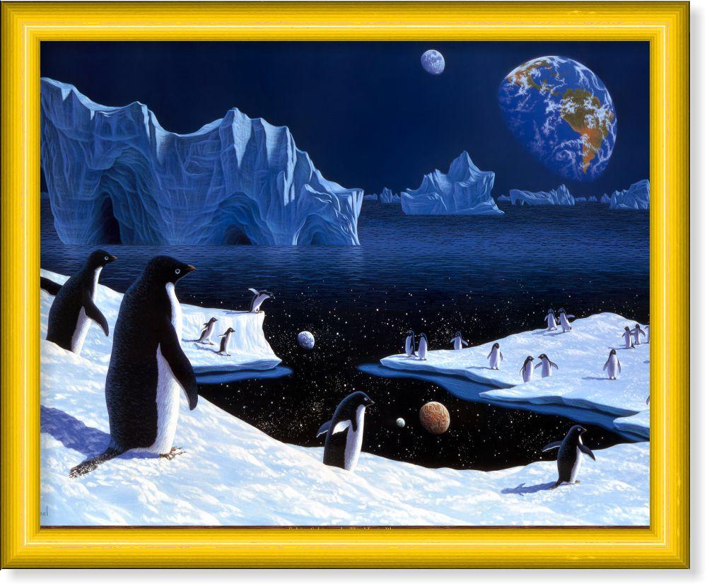 Репродукция  современной картины  «Пингвины»
