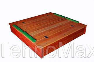 Песочница из сосны с крышкой разноцветная
