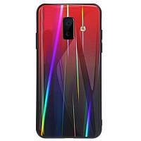 TPU+Glass чехол Gradient Aurora для Samsung Galaxy J6+ (2018), фото 1