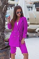 "Яркий летний женский костюм ""Jess"" с шортами и жакетом (3 цвета)"