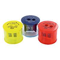 Точилка с контейнером, 2 отверстия, Color-Combi, KUM