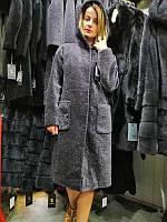 Зимнее пальто из астрагана, меховое пальто с капюшоном, шуба астроган, шубка