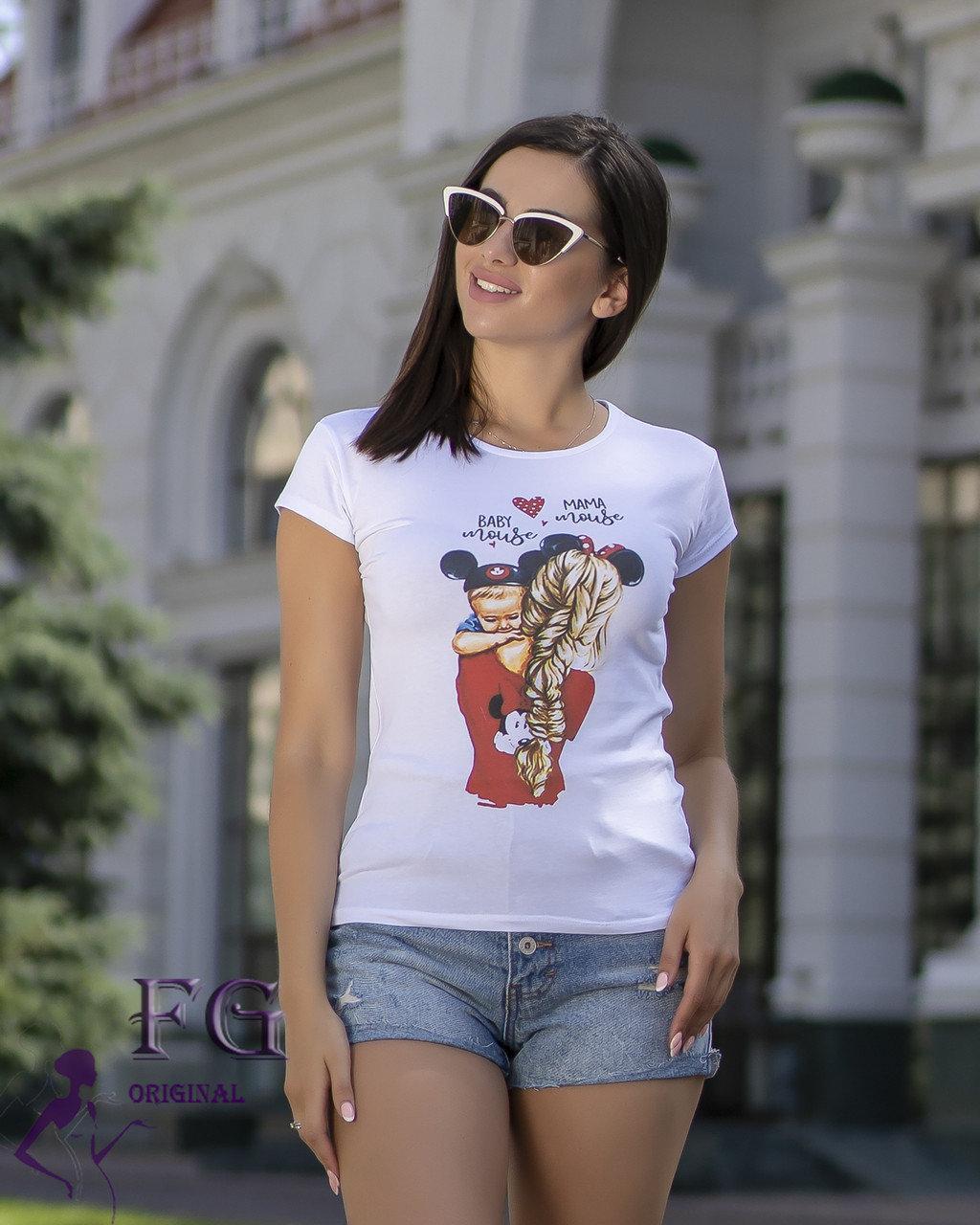 Женская футболка с модным принтом baby mous