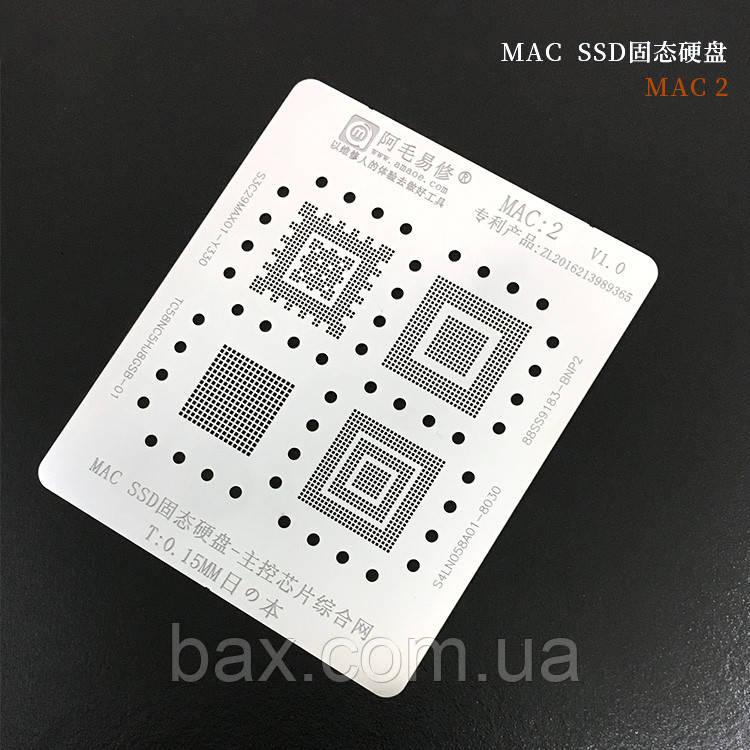 Amaoe BGA трафарет MAC:2  0.15mm для SSD чипов памяти