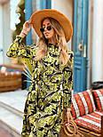 Женское легкое платье с растительным принтом, фото 4