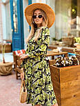 Женское легкое платье с растительным принтом, фото 3