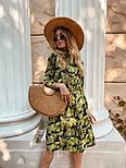 Женское легкое платье с растительным принтом, фото 6